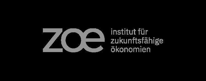 Logo ZOE. Institut für zukunftsfähige Ökonomien