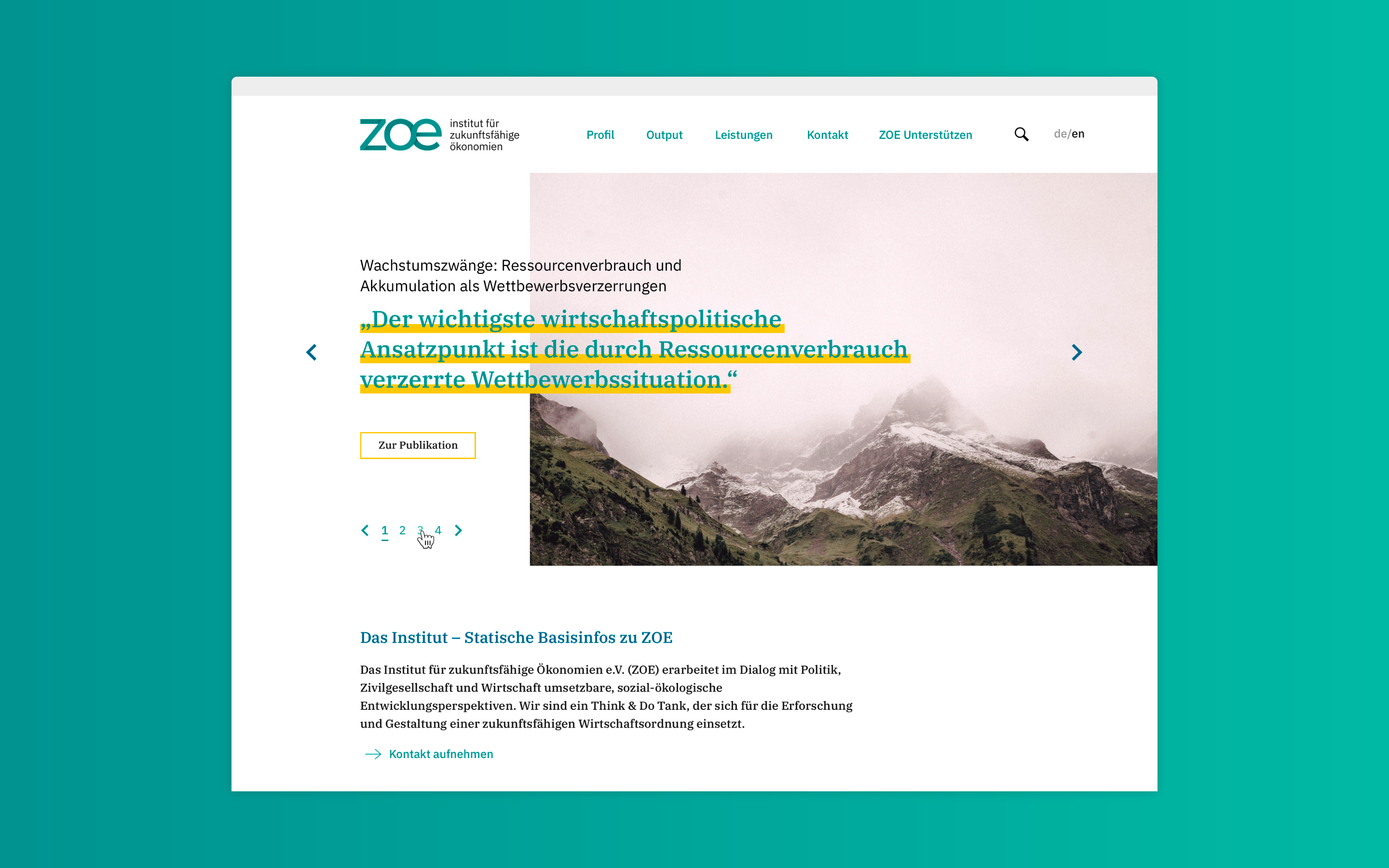ZOE Website Relaunch